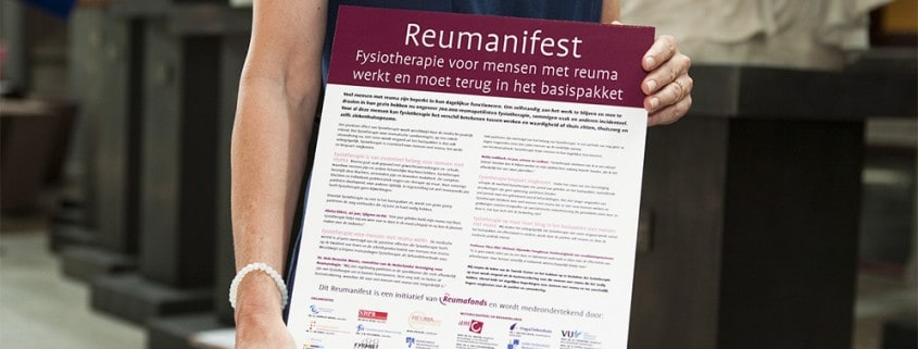 reuma fysiotherapie reumanifest